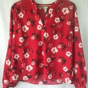 A New Day floral shirt